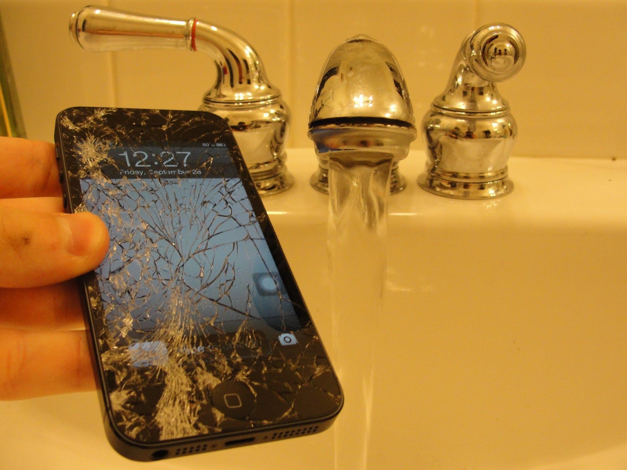 iphone 5 sıvı teması
